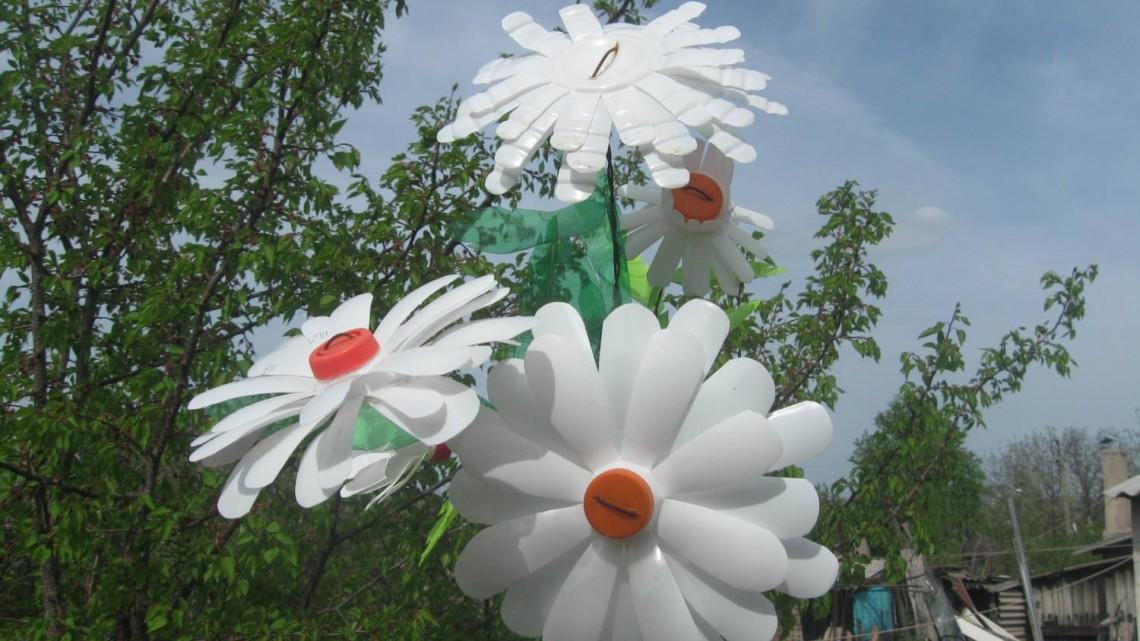Цветы из подручных материалов для сада