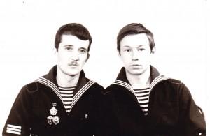 Юрій Харченко тоді з бойовим товаришем Сергієм Носенком