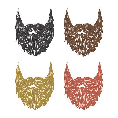 hand drawn beard