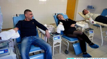 Сотрудники ЧАО «Запорожкокс» приняли эстафету по сдаче крови_1