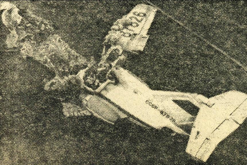 Сгоревший Як-40 «СССР 87826». Бердянск, 19 июня 1987г.
