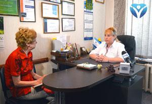 Наталья Ивановна рассказывает журналистам о диагностике и лечении аллергии
