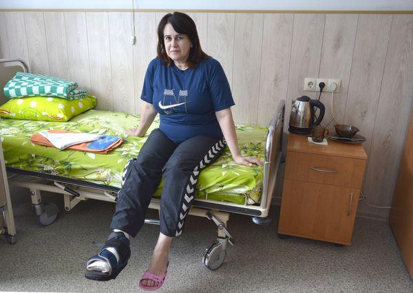 Ортопеды Запорожской областной больницы помогли Тамаре Николаевне избавиться от косточки на стопе