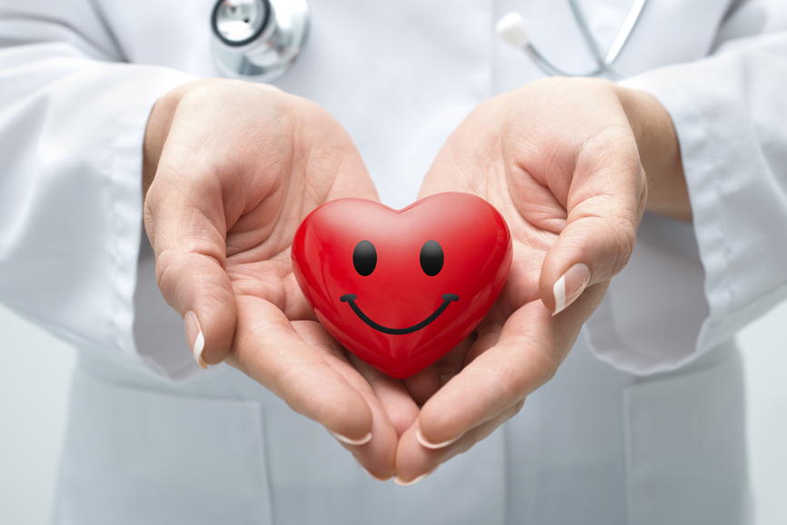 Doctor holding heart