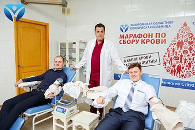 Фото 7_Свой вклад в донорский марафон ЗОКБ внесли активисты «Хортицкого полка», сотрудники заповедника «Хортица» и ассоциация травматологов области