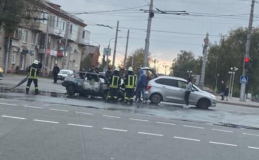 У центрі Запоріжжя великі затори через аварію