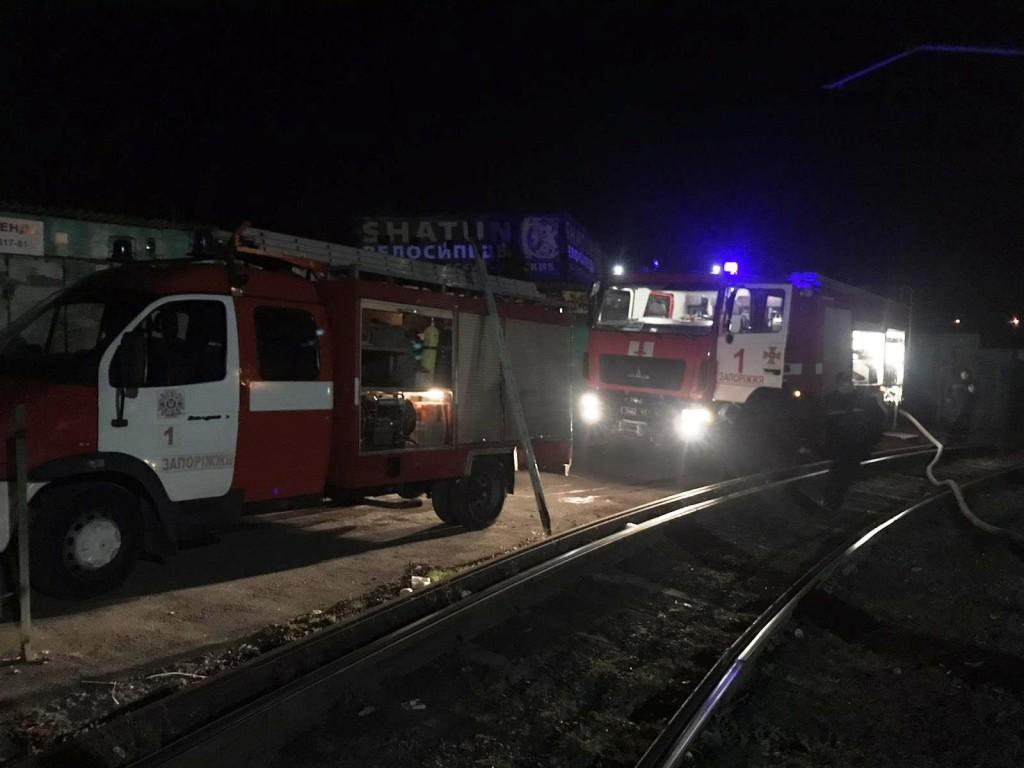 Нічна пожежа на Анголенко