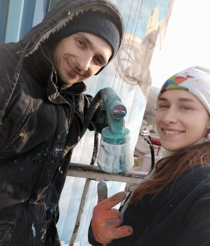 Людмила Кирилюк та Володимир Пастушак у роботі над Містом майбутнього