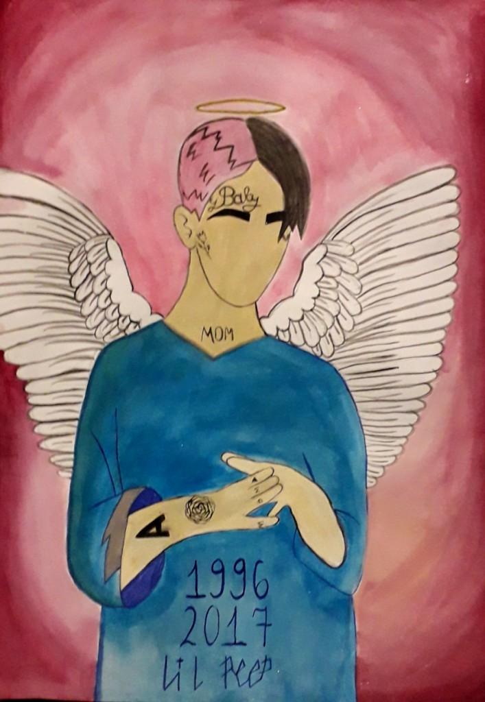 14-ти річна Александра більш за все обожнює малювати свого загиблого кумира