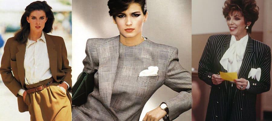 80-ті роки породили бум зі стилем ділової та сильної жінки, що культувалося і в 90-ті