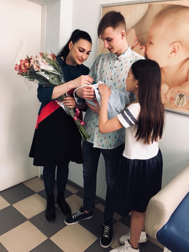 Лиля Син с детьми