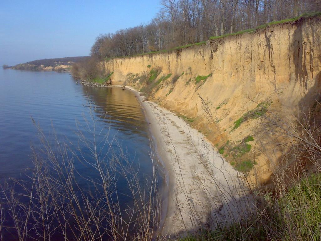З дачі гарний вид на Дніпро
