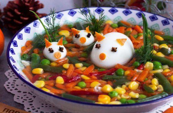Холодець з овочів і курки