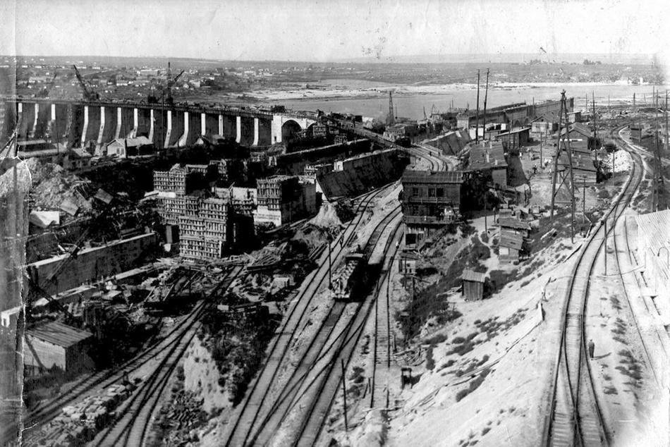 Будівництво ДніпроГЕС. 1929 рік